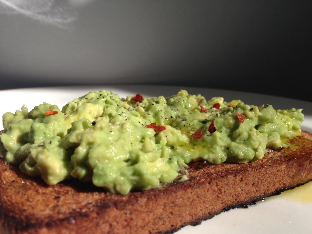 avocado toast up close