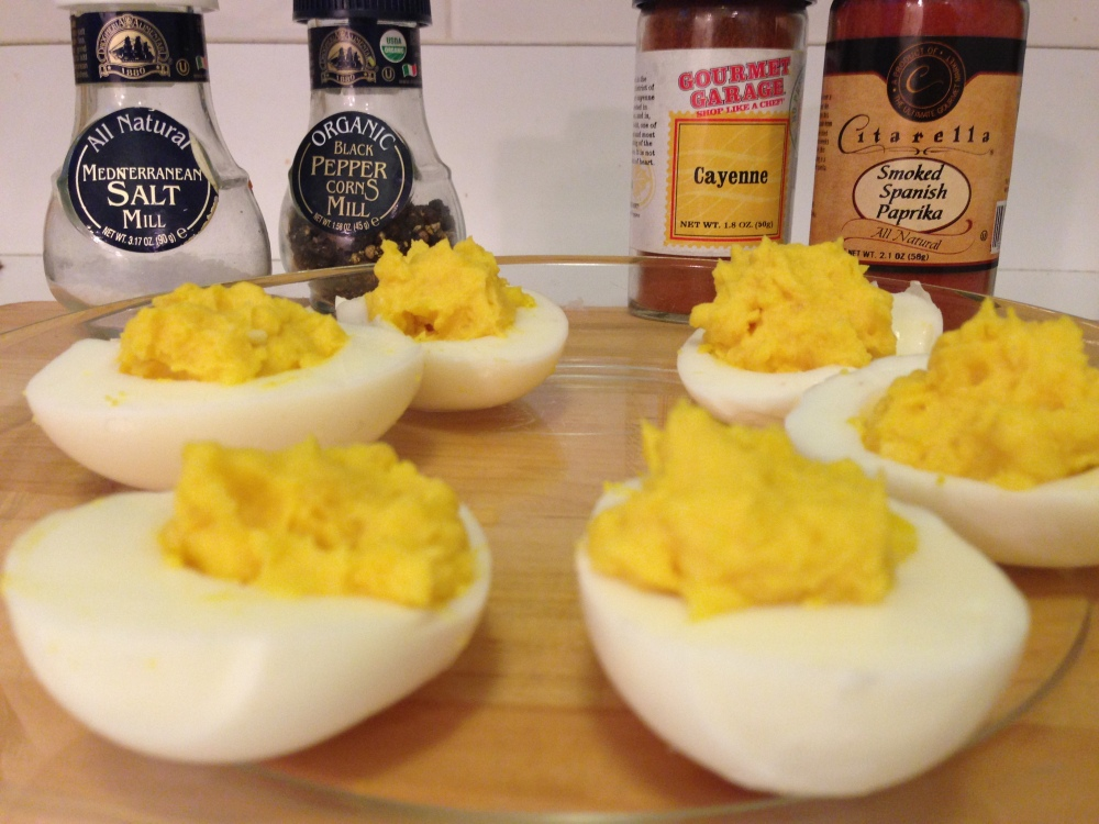 Filled Dedeviled Eggs