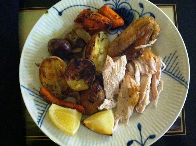 "Lemon Roasted Chicken: ""I was a little intimidated to roast a whole chicken, but Becca's photos and guide made it seem so easy - and it was! I added a few more vegetables and roasted everything in a cast iron skillet. The chicken was delicious! This is a perfect Sunday night meal. I look forward to making it again soon!"" -Katie R., Stratton, VT"