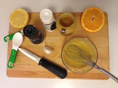Making the Honey Dijon Sauce