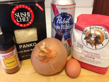 PBR Battered Baked Onion Rings Ingredients