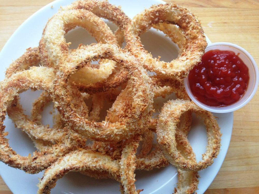 PBR Battered Baked Onion Rings