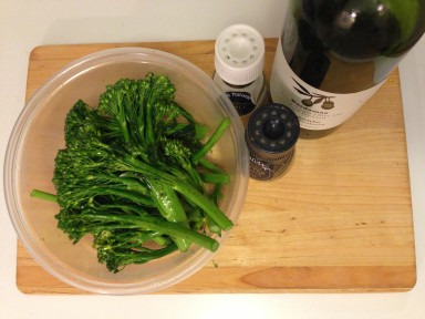 Prepping the Broccolini