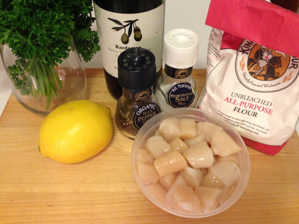 Seared Scallop Ingredients