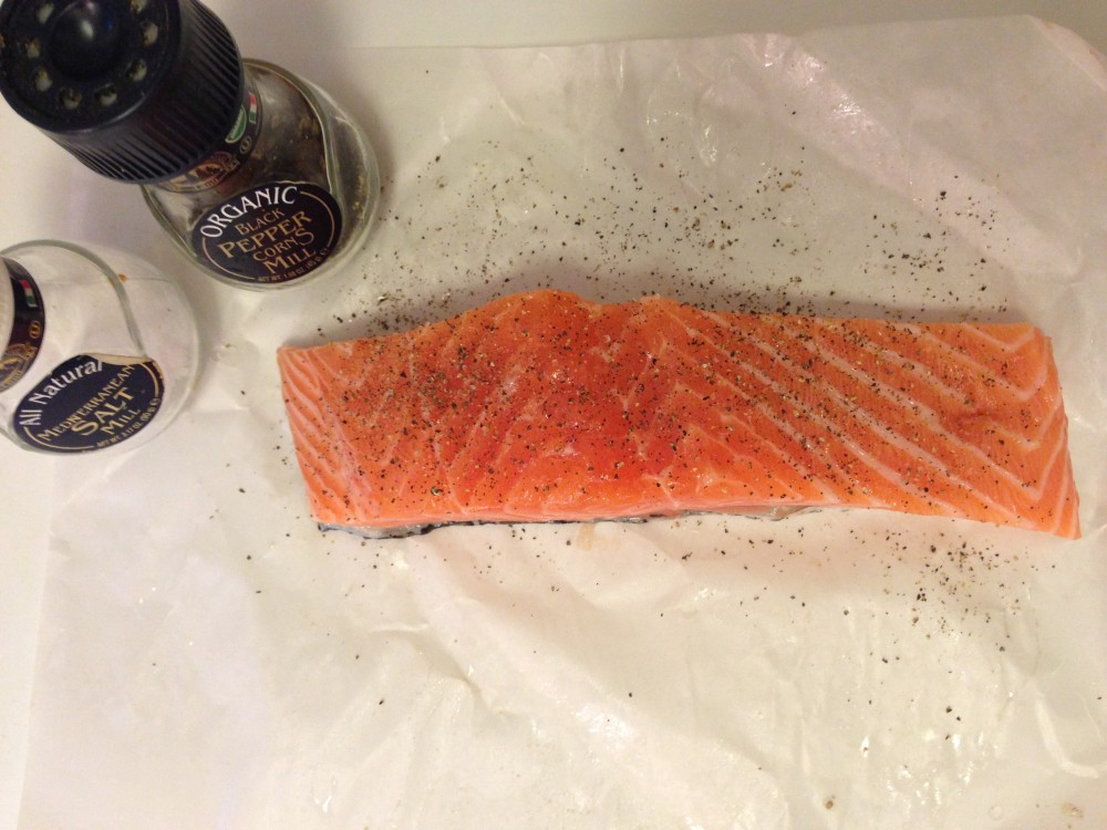 Seasoning the Salmon