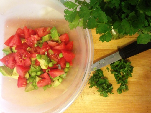 Adding the Cilantro