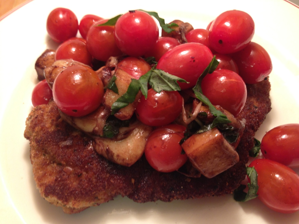 Caprese Chicken Milanese Close Up 2