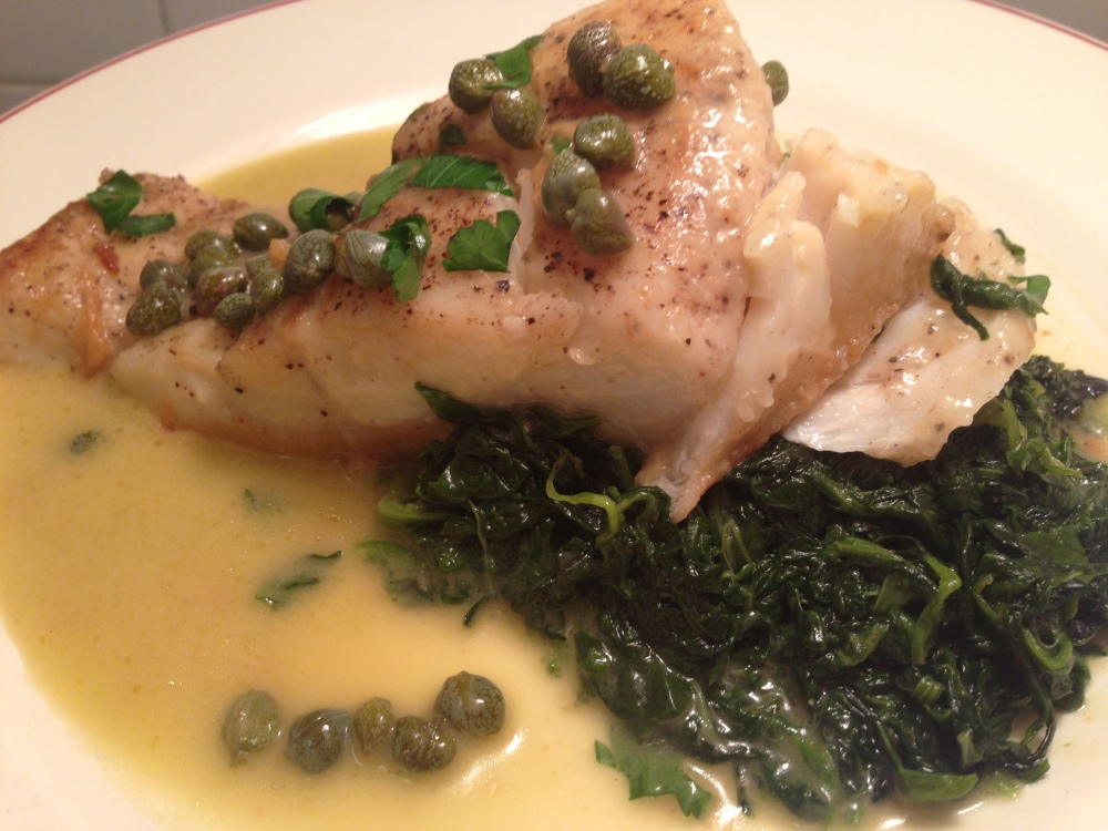 Cod with Spinach