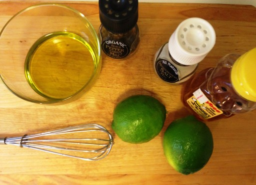 Making the Honey-Lime Vinaigrette