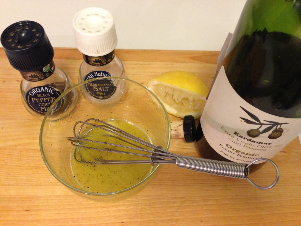 Making the Lemon Vinaigrette