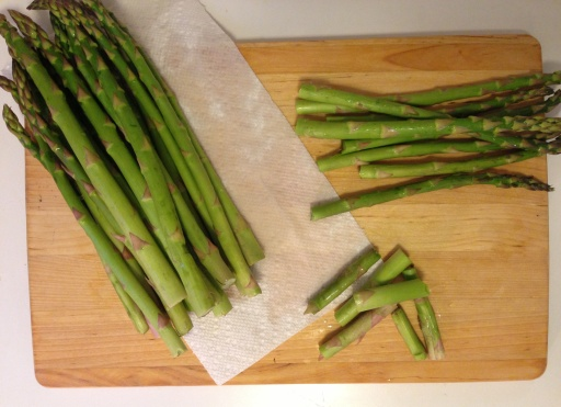 Prepping the Asparagus