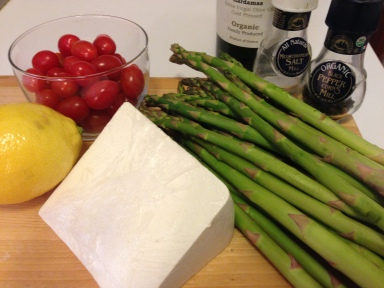 Shaved Asparagus Salad Ingredients