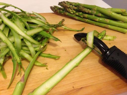 Shaving the Asparagus