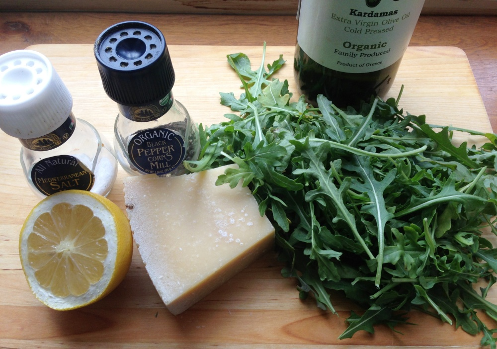 Simple Arugula Salad Ingredients