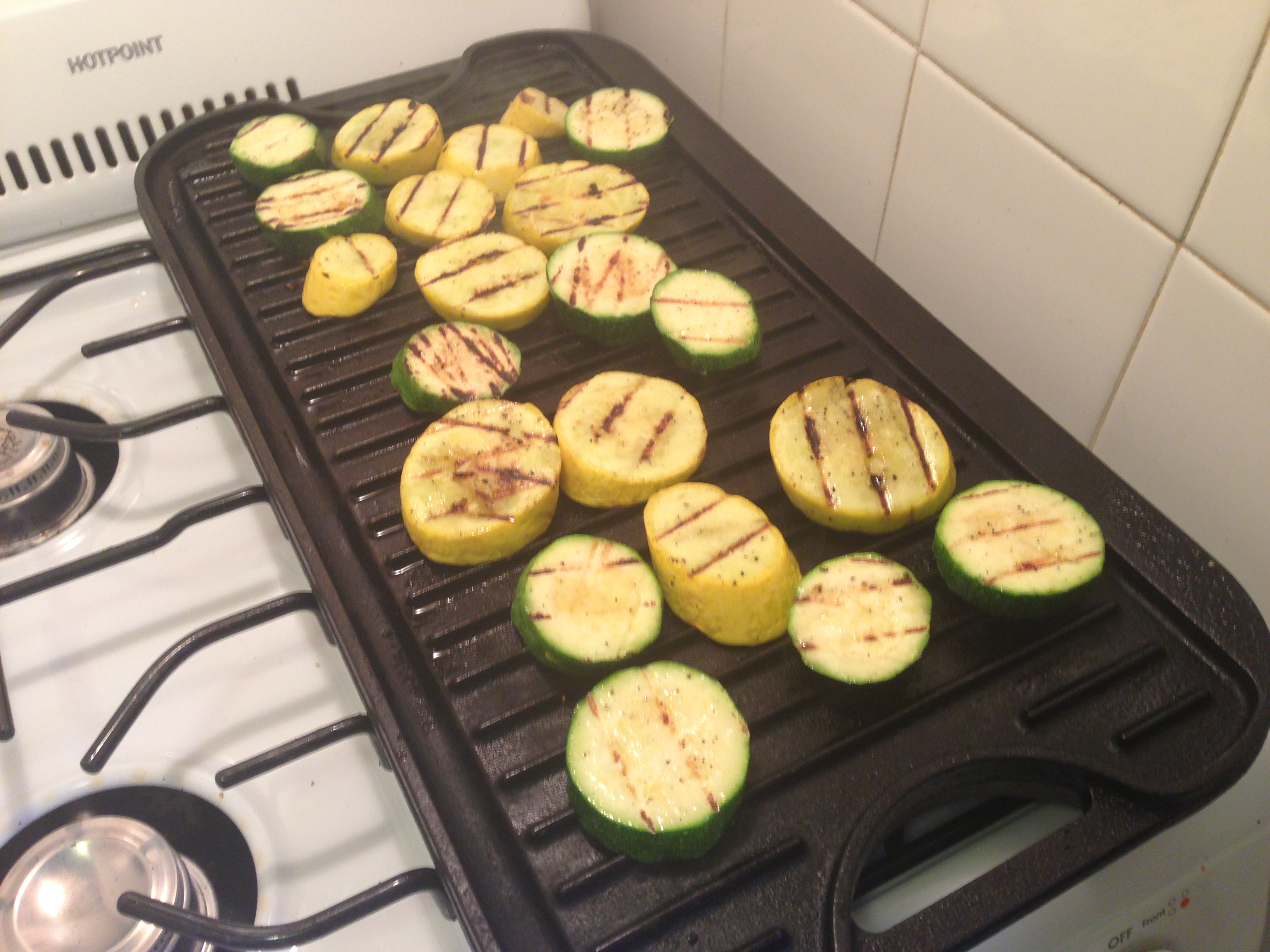 how to cut squash for grilling