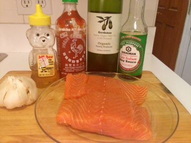 Sriracha Soy Salmon Ingredients