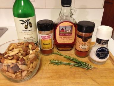 Maple Roasted Bar Nuts Ingredients