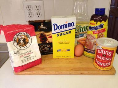 5-Minute Brownie Ingredients