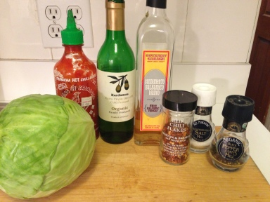 Spicy Cabbage Ingredients
