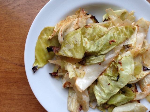 Spicy Roasted Cabbage