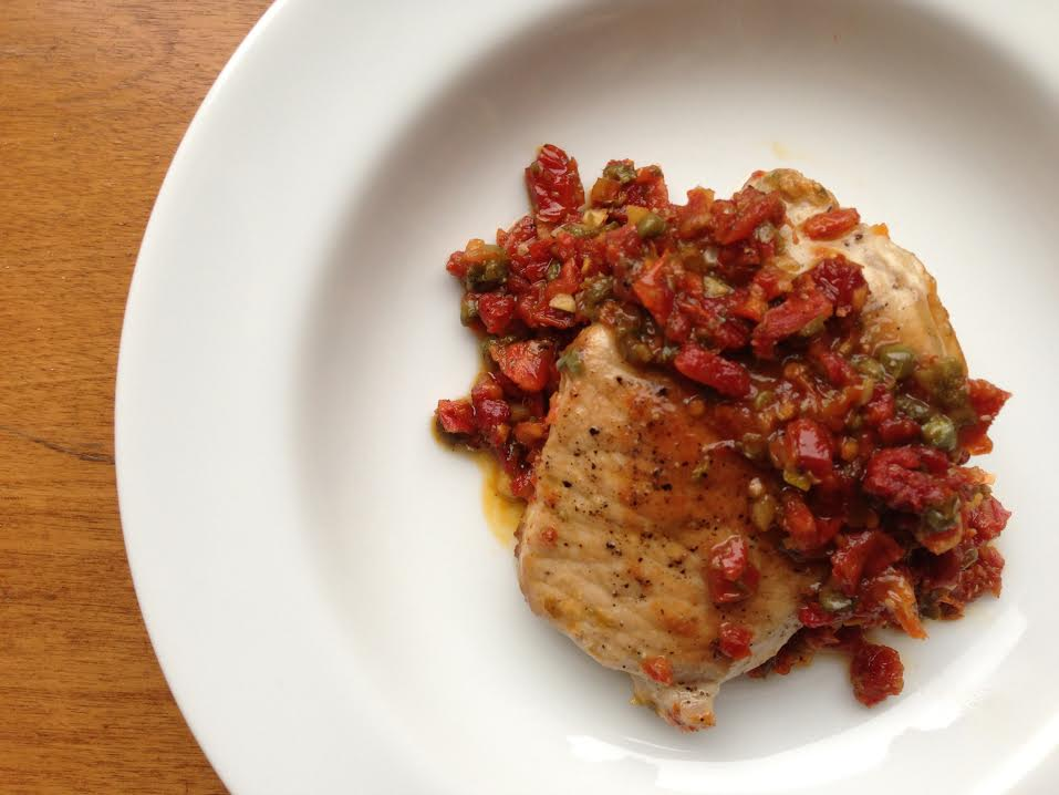 Pork Chops with Sun-Dried Tomatoes