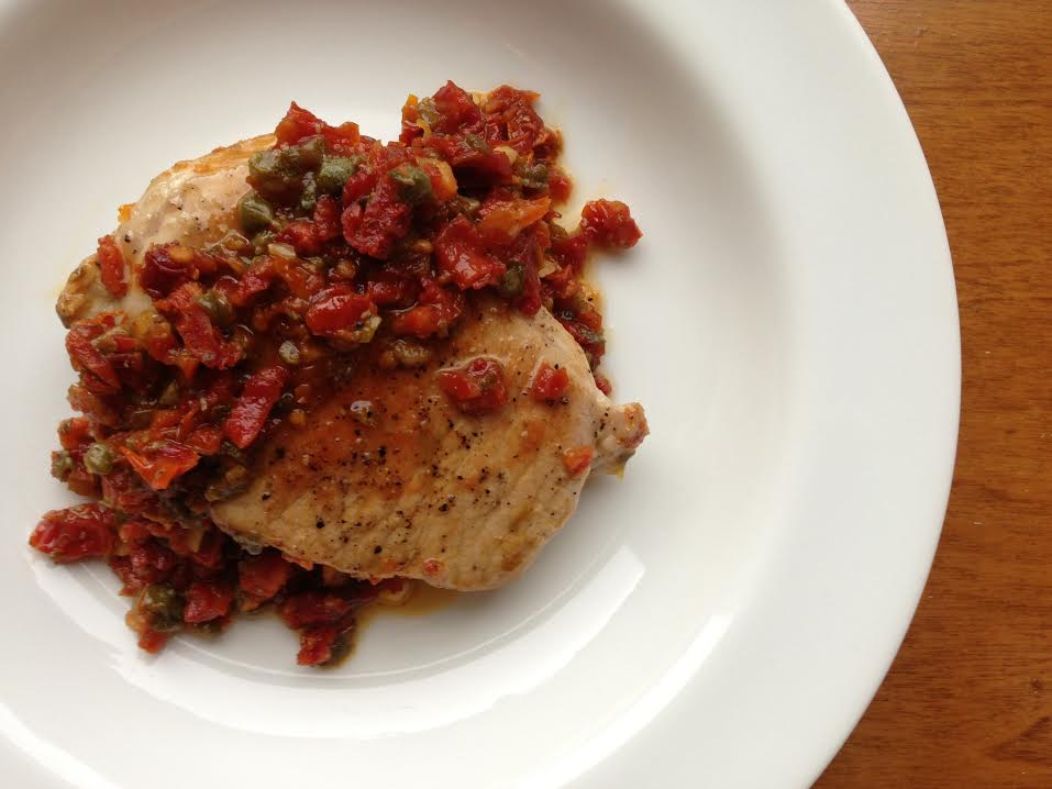 Pork Chop with Sun-Dried Tomatoes