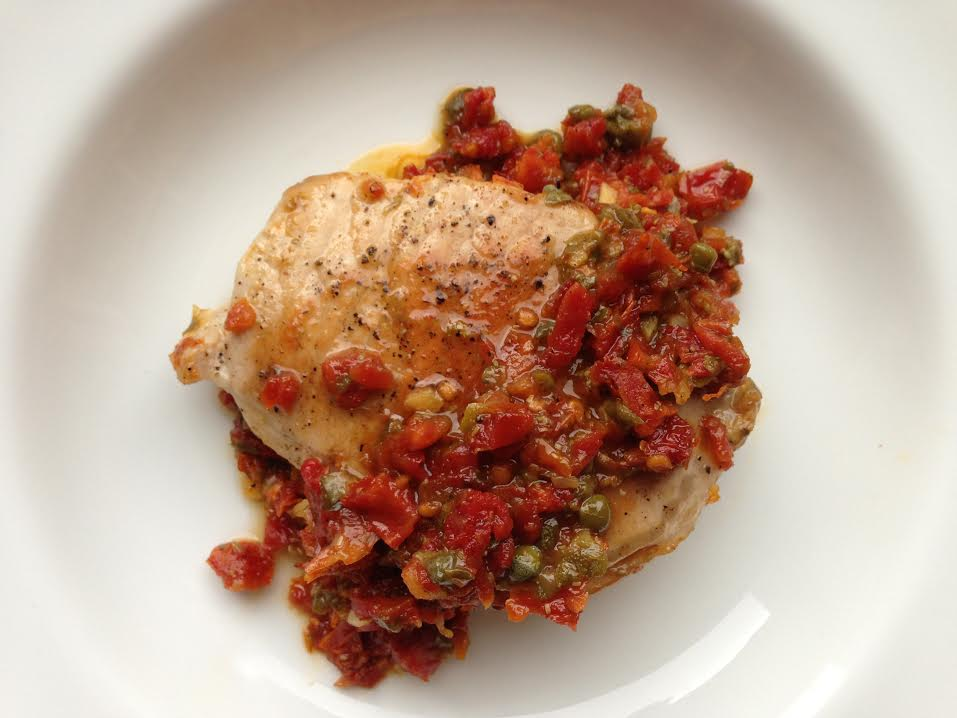 Pork with Sun-Dried Tomato Pesto