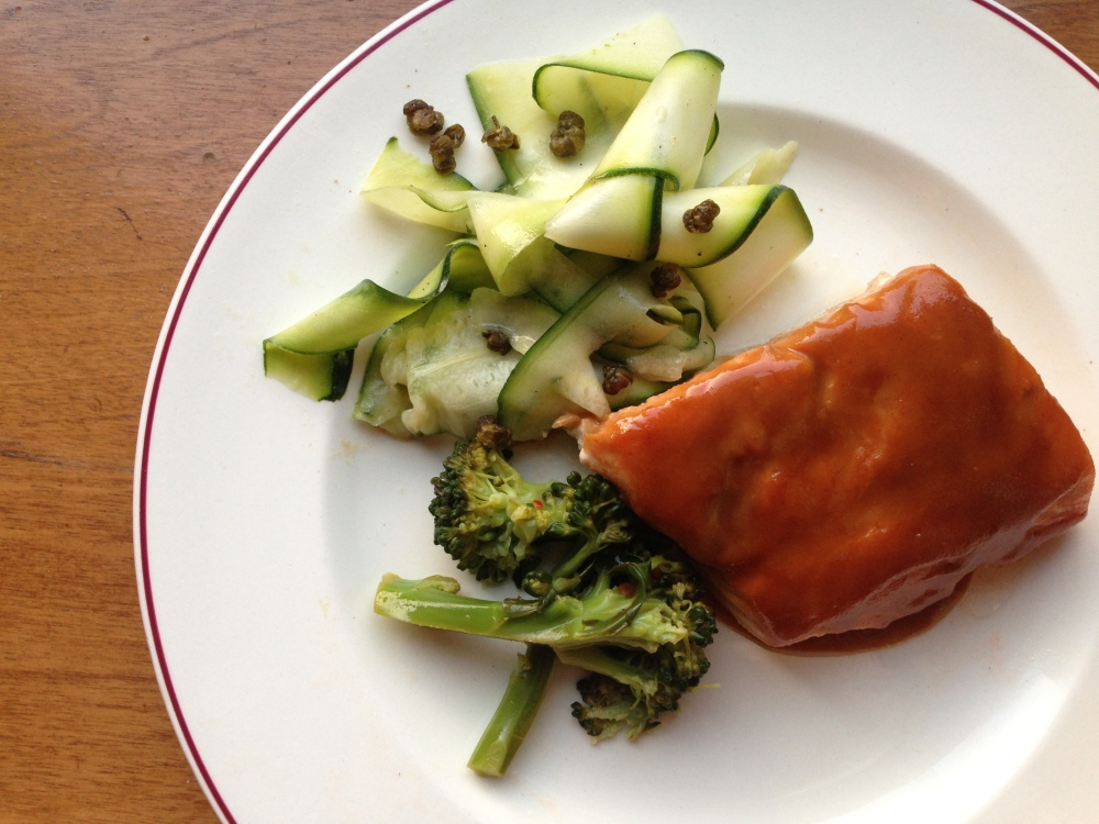 Maple Dijon Salmon with Vegetables