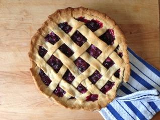 My dad's wild Maine blueberry pie.