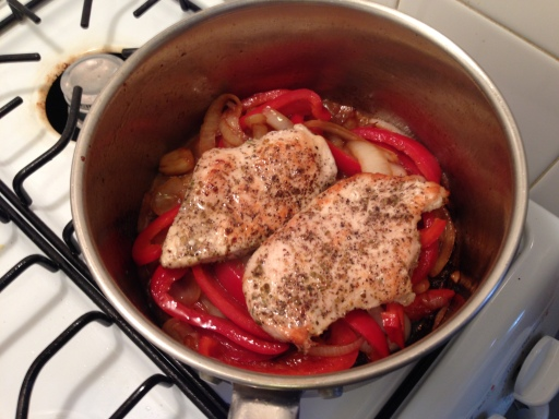 Adding the Chicken to the Pan
