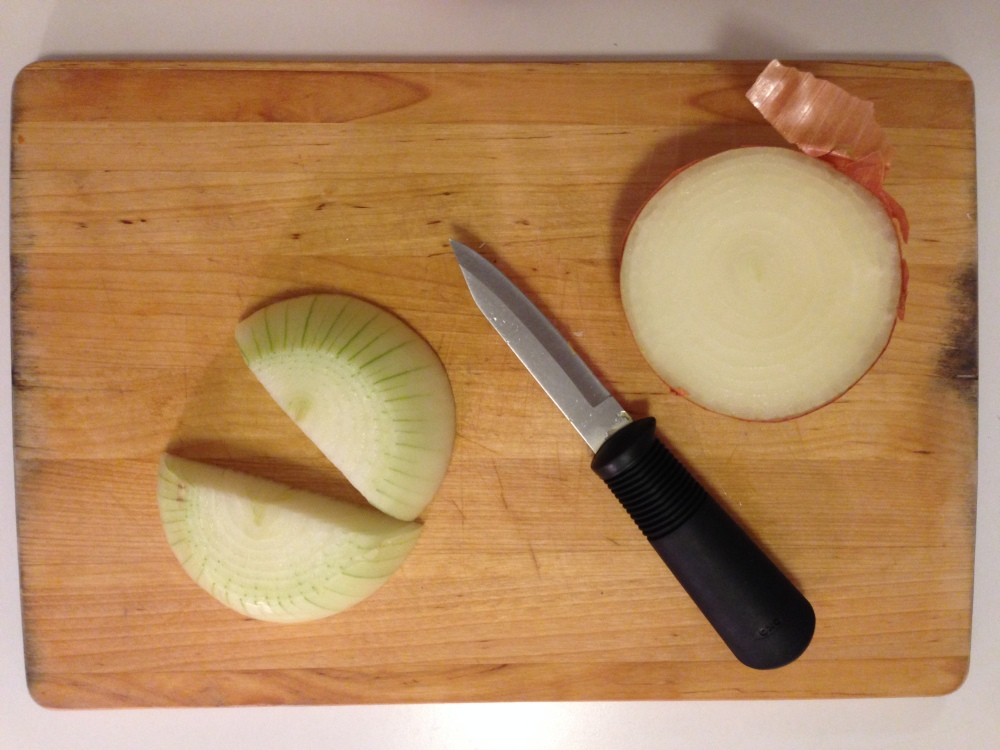 Slicing the Onions in Half