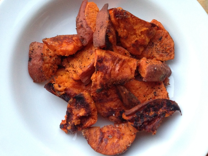 Roasted Smashed Sweet Potato Side Dish