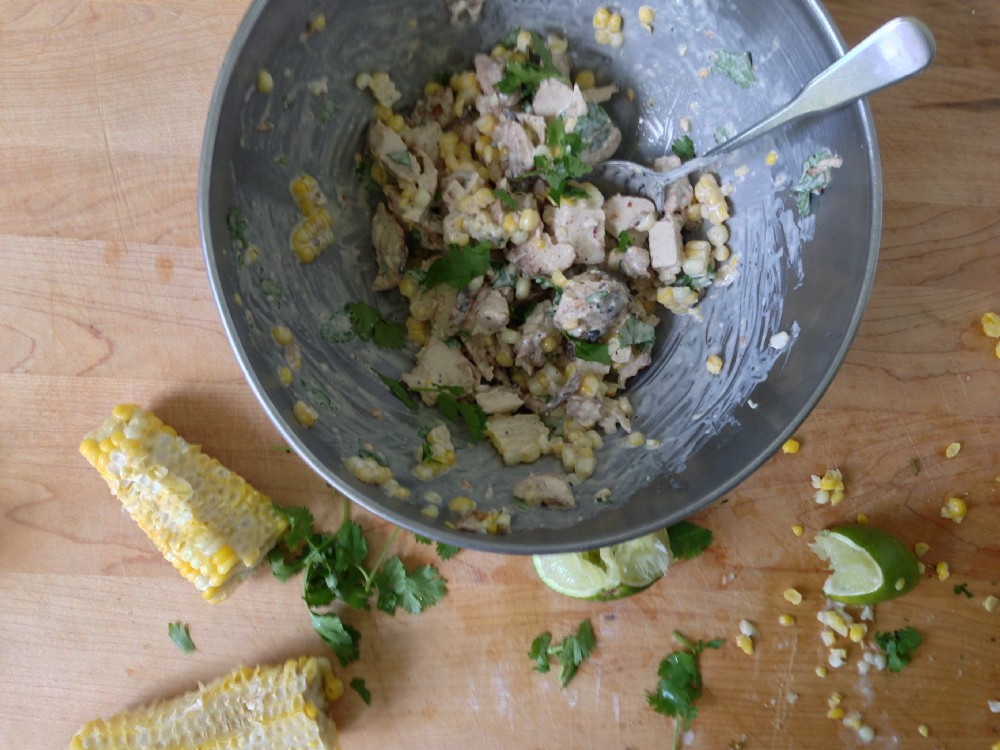 Chicken Salad with Corn