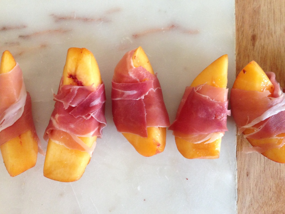 peaches and prosciutto